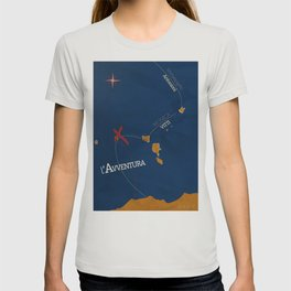 L'avventura, Monica Vitti, Michelangelo Antonioni, italian cinema, film, sea adventures, hollywood T-shirt