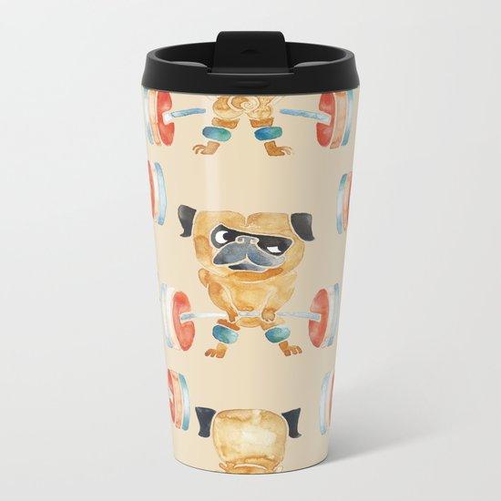Pug Lift Sweat Metal Travel Mug