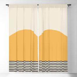 Sunrise / Sunset - Yellow & Black Blackout Curtain