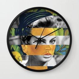 Frida Kahlo's Self Portrait with Bonito & Sophia Loren Wall Clock