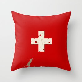 Swiss Cheese Flag Throw Pillow
