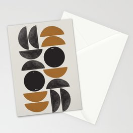 Geometry Shape Mid Century Organic Art Print Stationery Cards