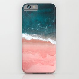 Turquoise Sea Pastel Beach III iPhone Case