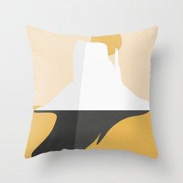 Abstract Mesa - Golden Desert Throw Pillow