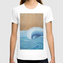 Wooden Wave Scape T-shirt
