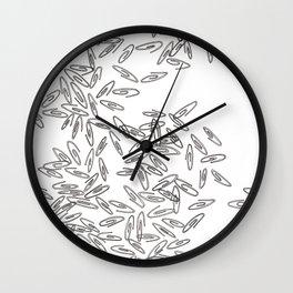 Paper Clips Wall Clock