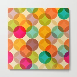 Geometric Happy Colors Print Metal Print