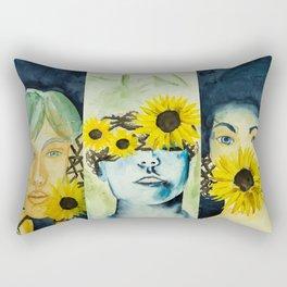 No hearing - No seeing - No talking Rectangular Pillow
