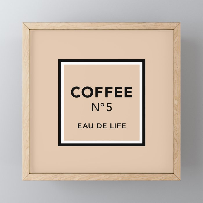 Latte No5 Framed Mini Art Print