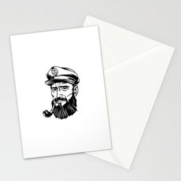 Cabeza Marinero Blanco Negro Stationery Cards