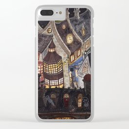 Roofs of magic town Clear iPhone Case