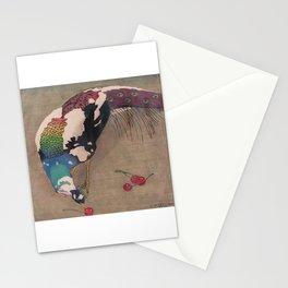 Weißgefleckter Pfau Stationery Cards