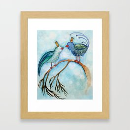 Bird King and Queen Framed Art Print