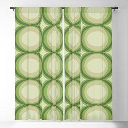 Vintage green pattern Blackout Curtain