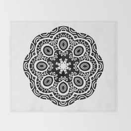 Polynesian style mandala tattoo 2 Throw Blanket