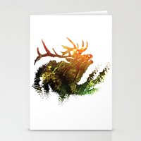 elk Stationery Cards featuring Elk by Justin Kedl