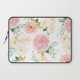 Sweet Pink Blooms (Floral 02) Laptop Sleeve