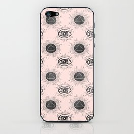 Eye of wisdom pattern - Pink & Black - Mix & Match with Simplicity of Life iPhone Skin