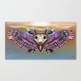Flying Sheild Canvas Print