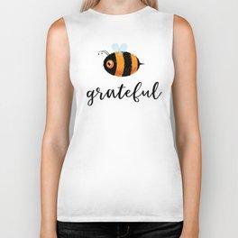 Be (Bee) Grateful Cute Funny Gift Women Men Boys Girls Kids Biker Tank