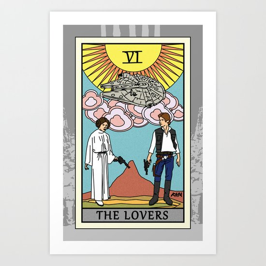 The Lovers - Tarot Card Art Print