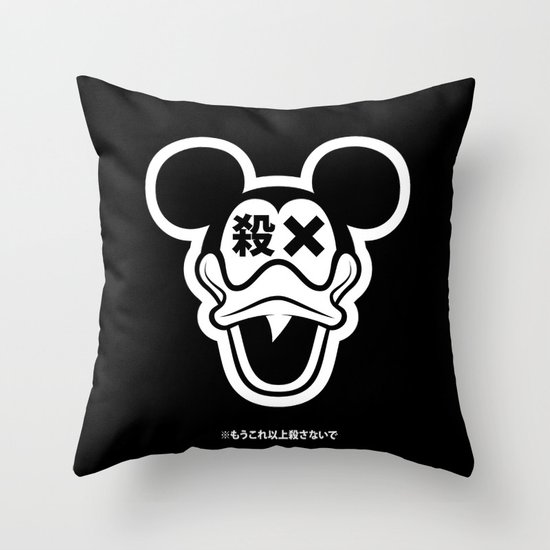 Mickey Duck Throw Pillow
