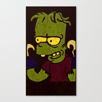 simpson Canvas Prints featuring Bart Simpson by Jide