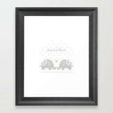 Love Elephants Framed Art Print
