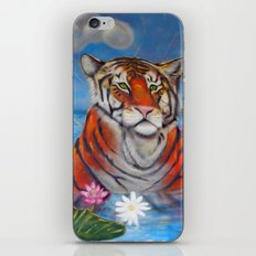 Bathing Tiger iPhone & iPod Skin