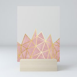 Pink & Gold Geometric Mini Art Print
