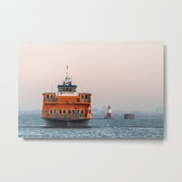 Lighthouse & Staten Island Ferry Metal Print
