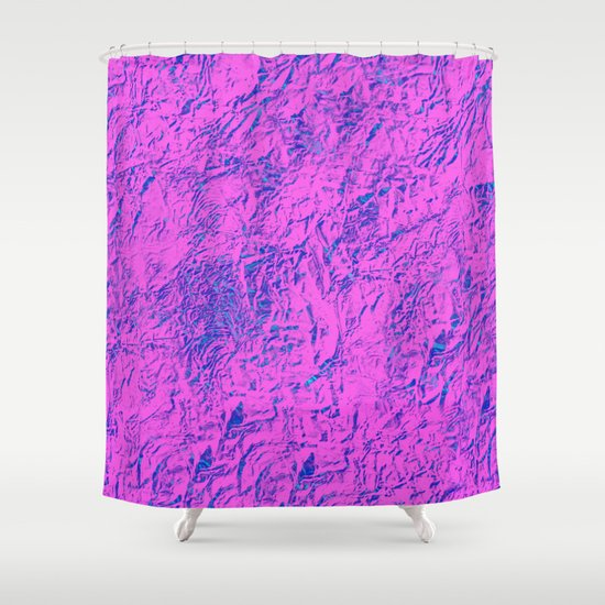 Textured Pink And Blue Shower Curtain By PrintPix Society6