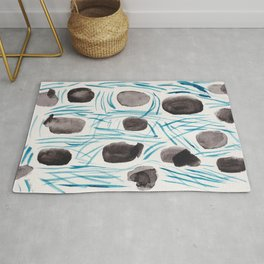 1  | Watercolor Patterns Abstract 181214 Rug