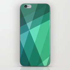 Fig. 046 Mint, Sea Green, Blue & Teal Geometric iPhone & iPod Skin