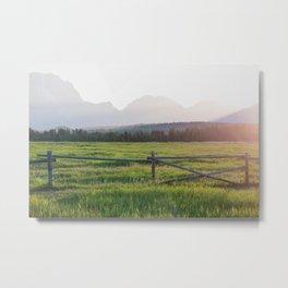 Sunset in Wyoming Metal Print
