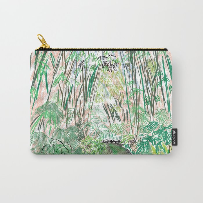 Bamboo Cathedral Sketch - San Marino CA Carry-All Pouch