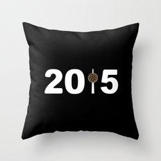 2015-NY-Black Throw Pillow