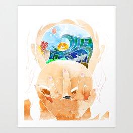 A Look Inside Art Print