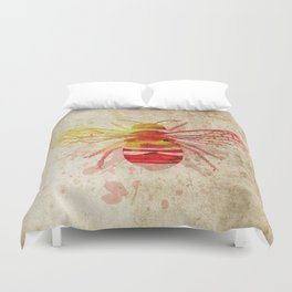 Watercolor Bumblebee Duvet Cover