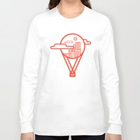 baloon Long Sleeve T-shirts featuring Up by Rizki Syahril