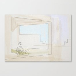 Hopper Linea 2 (office in a small town) Canvas Print