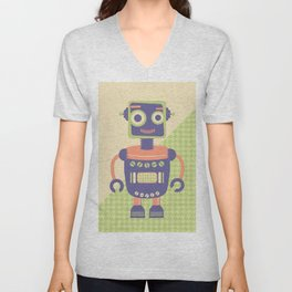 Rob-Bot01 Unisex V-Neck