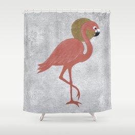 Rose Gold Flamingo Shower Curtain