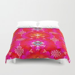 Variations on A Feather IV - Stars Aligned (Firebird Edition) Duvet Cover