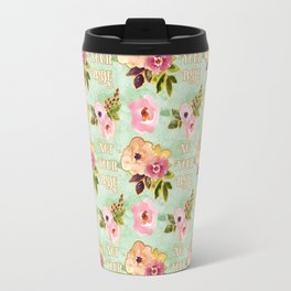 Floral 'Not Your Babe' print Travel Mug