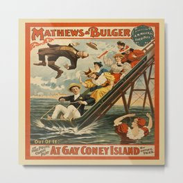 Vintage poster - Coney Island Metal Print