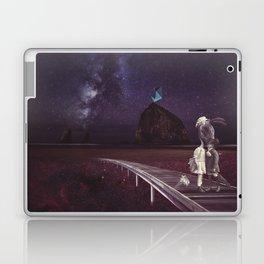 Kiss of love in space Laptop & iPad Skin