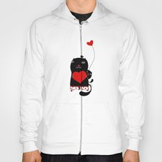 Cats with hearts Hoody