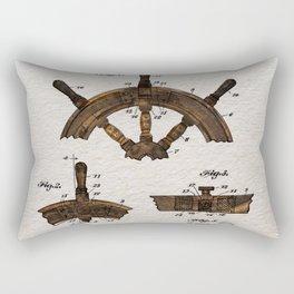 Ship steer wheel color Rectangular Pillow