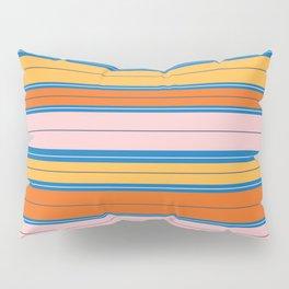 Stripes in Orange, Peach, and sky blue Pillow Sham